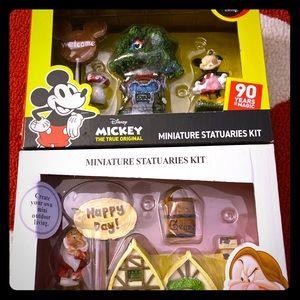 Disney mini statuaries kit ADORABLE 🍄🌳